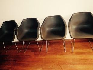 verkocht set van 4 robin day hille design retro kuipstoelen space age, 150 euro voor de set